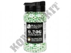2000 x 6mm x 20g White Green Ultra Mix Polished Airsoft BB Gun Pellets